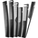 6 Pcs. Carbon Comb Set & Case - COMBS