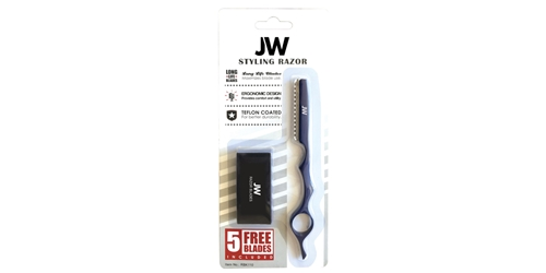 Razor & Blade Kit - Blue JW, Styling, Razor, Solid, Blue, Blades, Kit