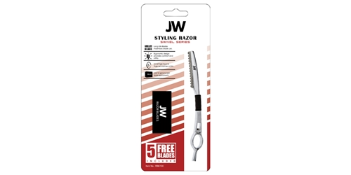Razor & Blade Kit - Swivel JW, Swivel, Styling, Razor, Silver, Chrome, Blades, Kit